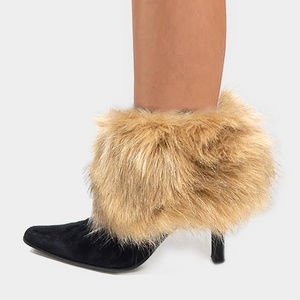 Faux Fur Leg Warmers pair boot toppers